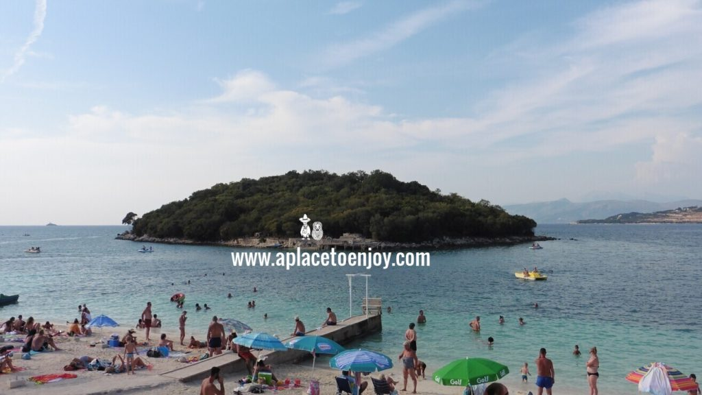 Beaches and seaside of Ksamil in Albania