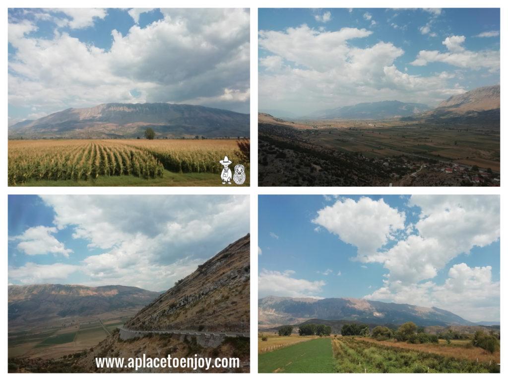 Views on mountains on the way to Ksamil Albania