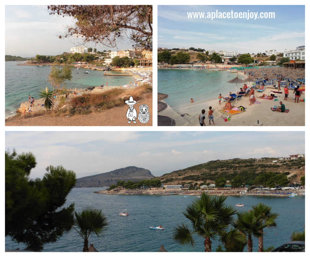 Beaches and sea of Ksamil in Albania