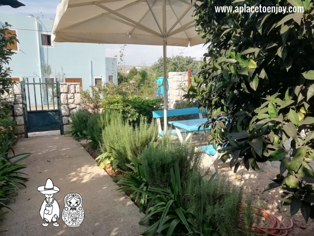 Garden at the guest house in Ksamil Albania