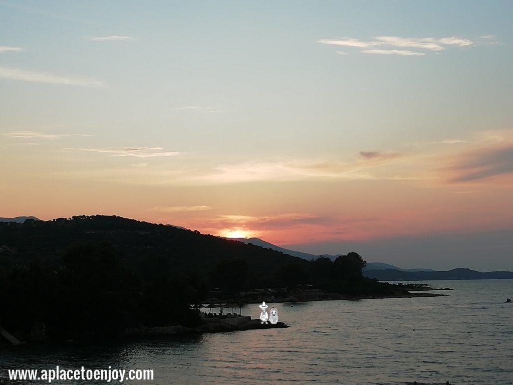 Sunset above Greece