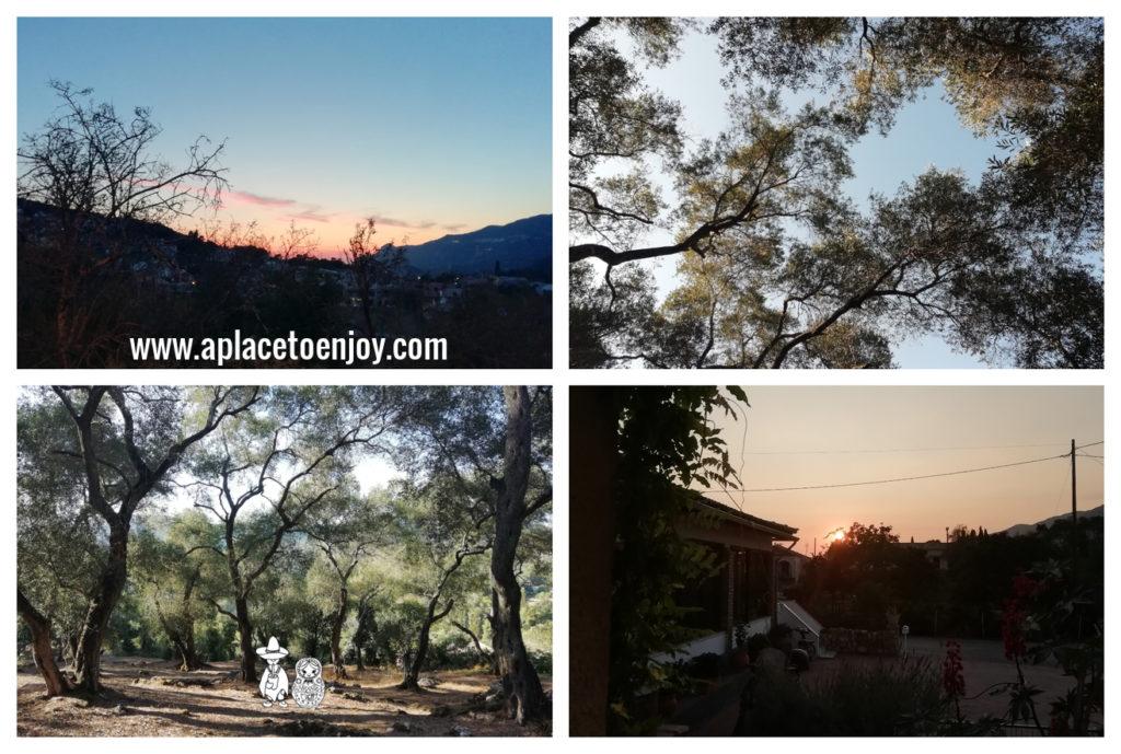 Views of Liapades in Corfu, Greece