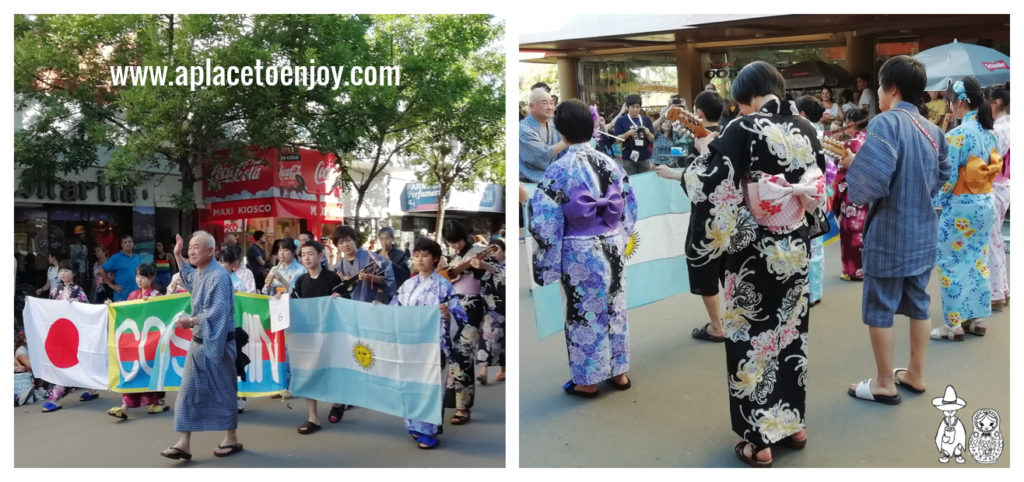 Японский коллектив на параде в Коскине в 2019 году