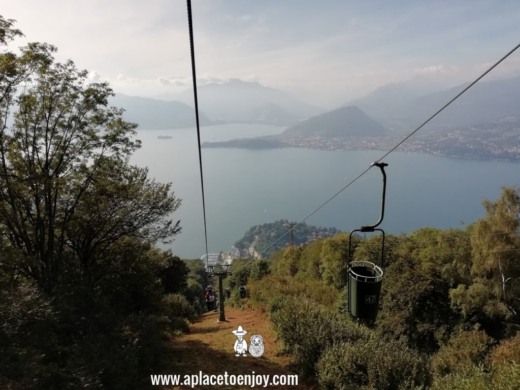 Cable cars in Laveno-Mombello, Italy