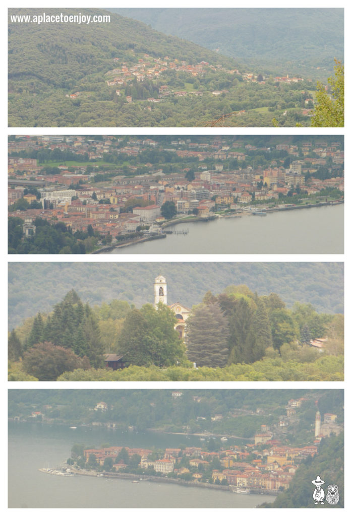View on Maggiore lake from Agra, Italy