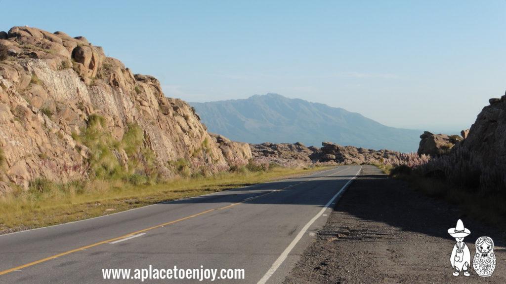 Road in Altas Cumbres, Cordoba, Argentina