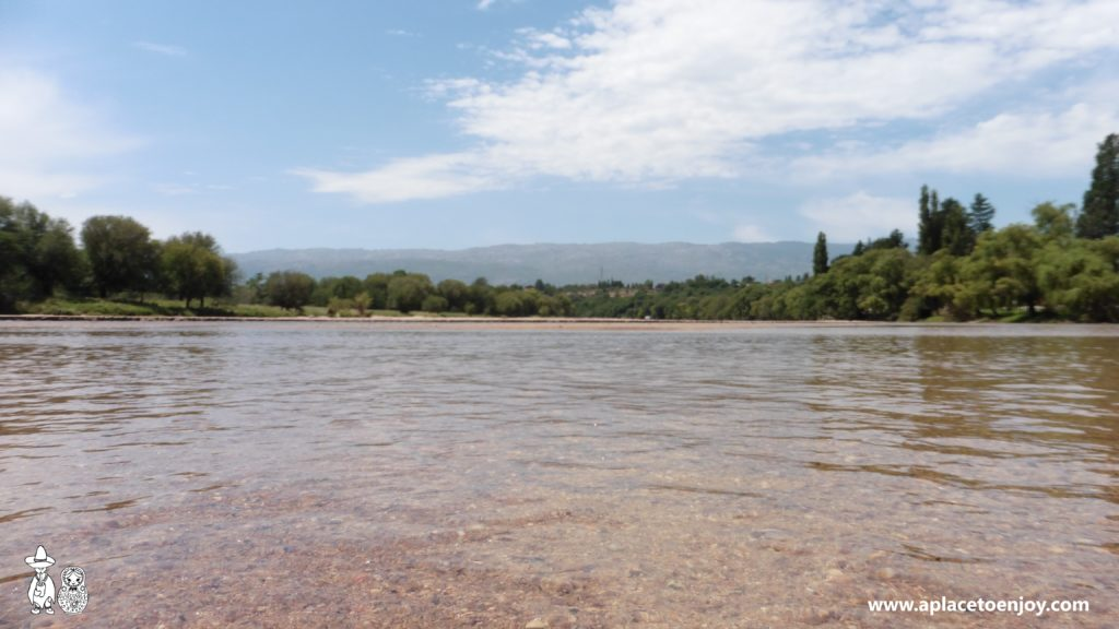 Crystal clear water in Los Sauces river, Nono, Cordoba, Argentina