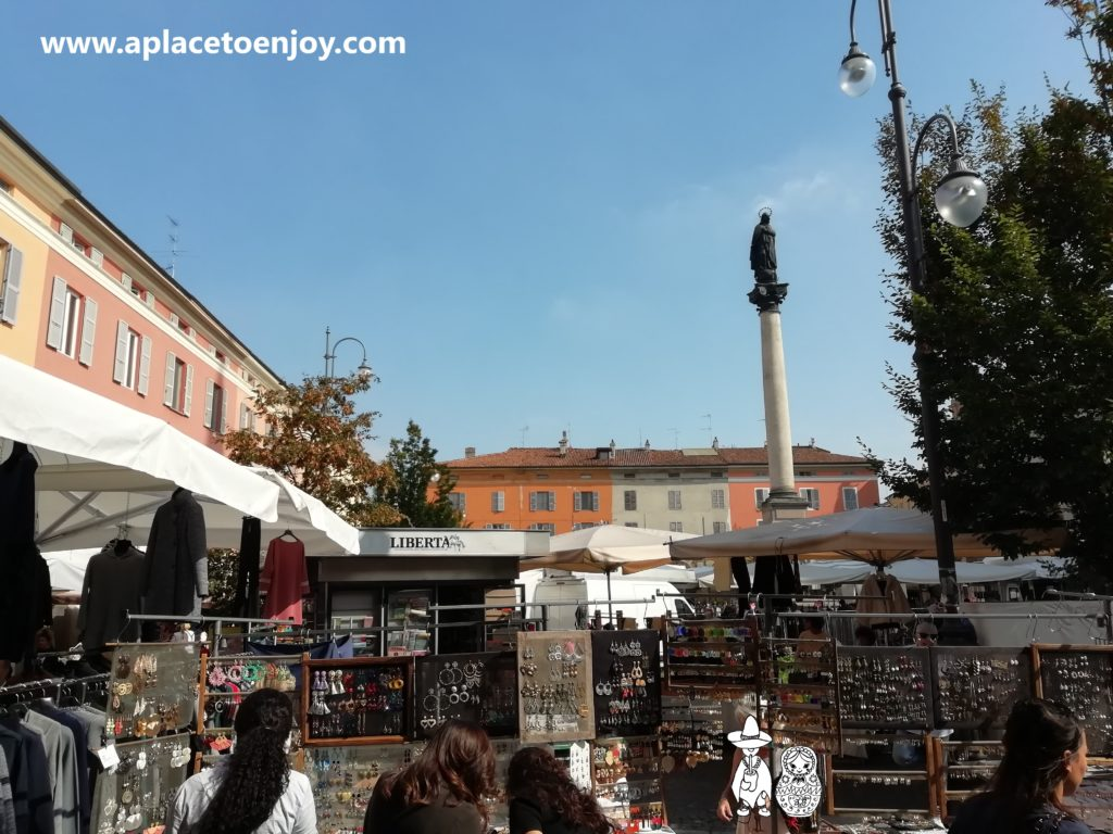 Weekend fair in Piacenza, Italy