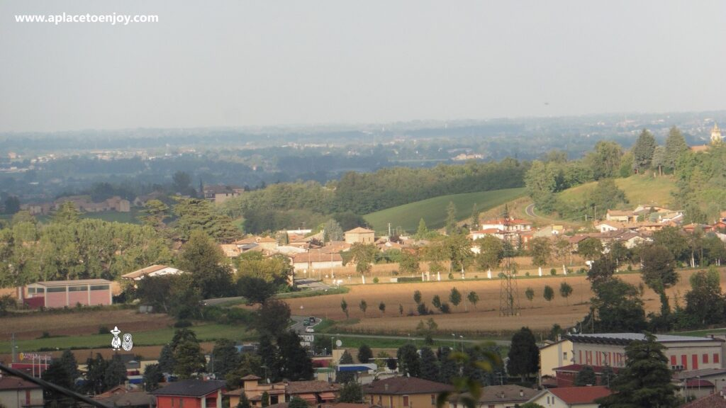 View on the valley from the Castell'Arcuato