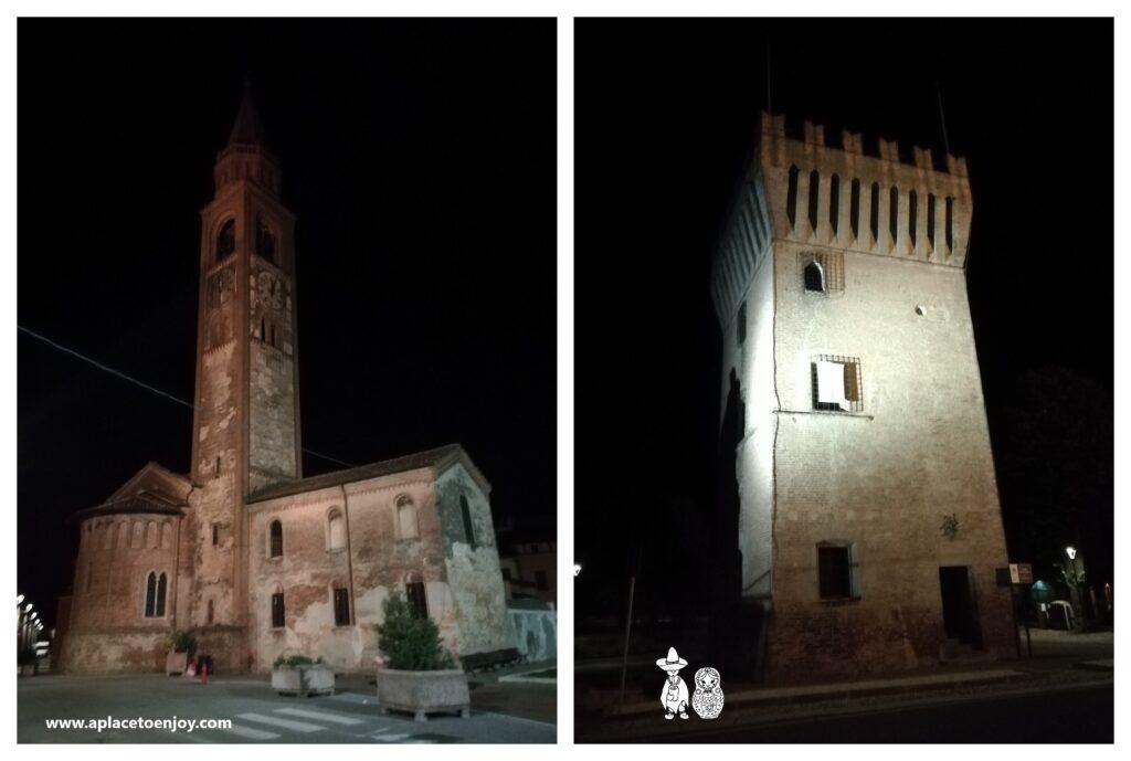 Church of San Bassano and tthe Pizzighettone Castle